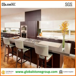 Quality Hanstone Grey Quartz Kitchen Countertops / Dining Table/ Island Tops