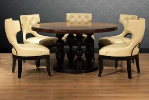 Round Wooden Dining Table (PA4-1) pictures & photos