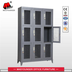 Worker / Staff / Soldier Use 9 Door Steel Wire Mesh Locker pictures & photos