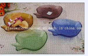 Solid Color Fish-Shape Glass Plate (P-024) pictures & photos