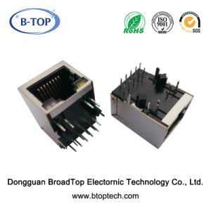Single Port 10/100base RJ45 Jack with Poe Function (Tab Down)