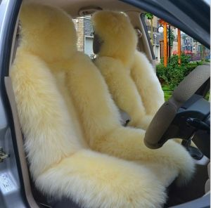 Awe Inspiring Long Hair Natural Sheepskin Seat Covers For Car Alphanode Cool Chair Designs And Ideas Alphanodeonline