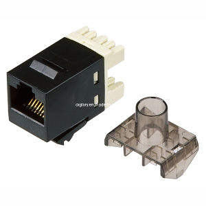 CAT6 UTP 180 Degree RJ45 Keystone Jack pictures & photos