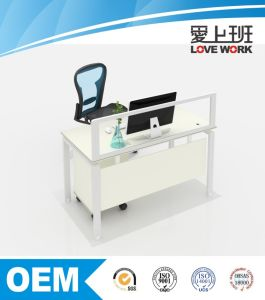Wooden Office Desk for One Person Including Drawer