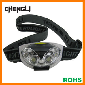Chengli 4white LED + 2red LED Head Lamp with 3PCS AAA Size Battery (LA286) for Reading