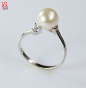 Fresh Water Fashion Silver Pearl Ring (ER1609) pictures & photos