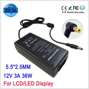 50-60Hz Charger Adapter 12V 3A 36W for LCD/LED Display