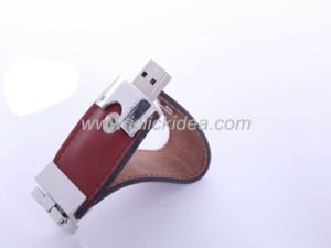 Custom Logo Printed Leather USB Memory Flash Disks for Business Gifts