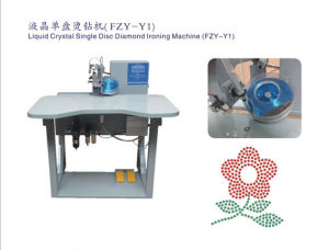 High Speed Liquid Crystal Single Disc Rhinestone Hot Fix Machine/High Quality (HT-Y1)