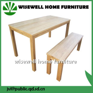 Ash Wood Dining Table Furniture with 2 Benches (W-DF-0638)