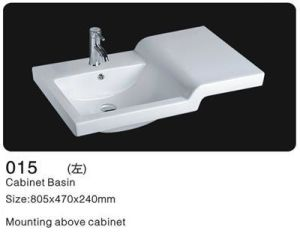 Bathroom Ceramic Washbasin, Bathroom Cabinet Wash Basin pictures & photos