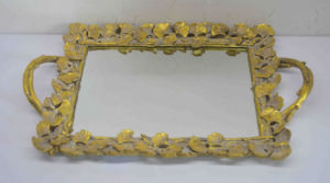China Resin Gold Rope Handle Wedding Decorative Mirror