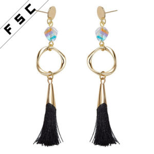 Cusotm Fashion Designs Jewelry Handmade Crystals Tel Long Hanging Earrings