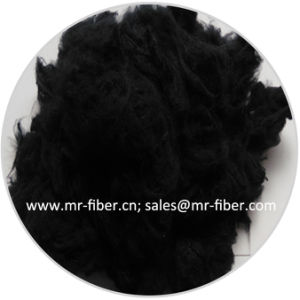 1.4D*38mm Black Cotton-Like Recycled Polyester Staple Fiber