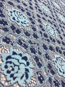 Two-Color Embroidery Lace Fabric for Dress