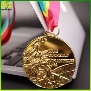 Wholesale Metal Zinc Alloy Enamel Custom Race Football Medal Ribbon Medal