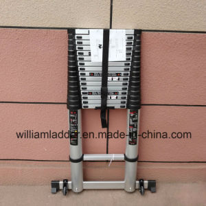 6.6m Single Telescopic Ladder 16steps Aluminum Alloy Folding Step Stairs