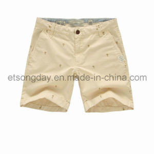 100% Cotton Men′s Shorts with Embroider (CRISTZAN) pictures & photos