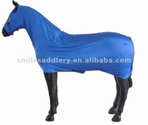 Horse Blankets Royal Blue Elastic Lycra Body Suit Rug