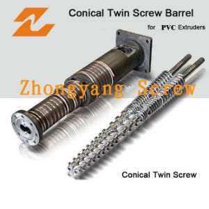 Bimetallic Conical Twin Screw Barrel of Extruder for Material pictures & photos