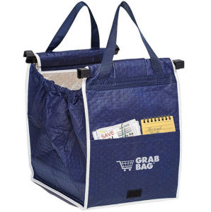 Folding Style and Non-Woven, Non-Woven Material Shopping Cart Insulated Go Bag