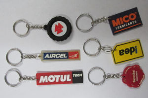 Soft 3D Custom Rubber Keyring Wholesale