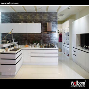 Welbom White Modern Style Baked Paint Kitchen Cabinet