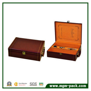 Top Grade Packaging PU Leather Wine Box pictures & photos