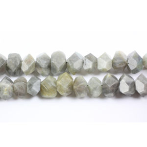 Labradorite Faceted Central-Drilled Nuggets Gemstone Beads (SL72710)