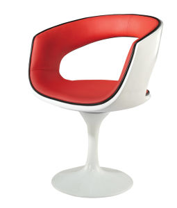 White and Red Chair with Coffee Chair Lounge Chair