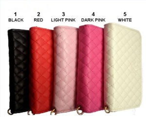 for iPhone 4/4s/5 Ccdes Stand, Wallet Credit Card ID Holder ,PU Leather Case