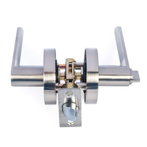 Chrom Zinc Alloy Tubular Lever Handle Door Locks pictures & photos