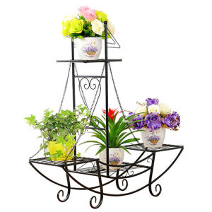 Hot Gergeously Wrought Iron Plant Pot Stand Planter Display Flower Holder