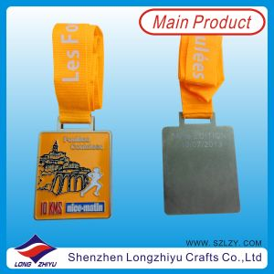 France Custom Design Medal Sport Metal Running Medals of Honor Award Rectangle Medal pictures & photos