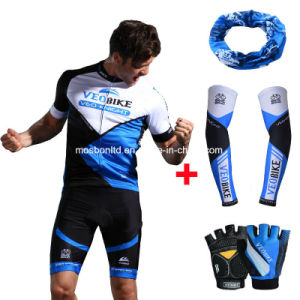 Men′s Sublimation Print Short-Sleeve Biking Jersey Set 3-D Gel Paded Cycling Clothes/Cycling Wear pictures & photos