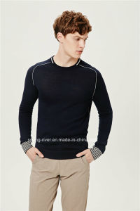 Acrylic Wool Round Neck Men Pullover Knitwear pictures & photos