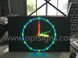 Optraffic Road Side Pole Mounted Traffic Control Variable Message Display Vmd Outdoor Full Color Full Matrix LED Advertising Boards Display Screen pictures & photos
