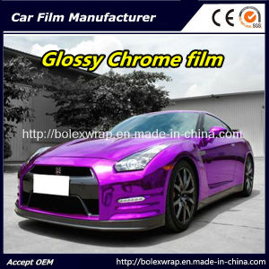 Purple Glossy Chrome Film Car Vinyl Wrap Vinyl Film for Car Wrapping Car Wrap Vinyl pictures & photos