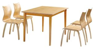 High End Quality Durable Guangzhou Solid Wood Canteen Dining Table pictures & photos