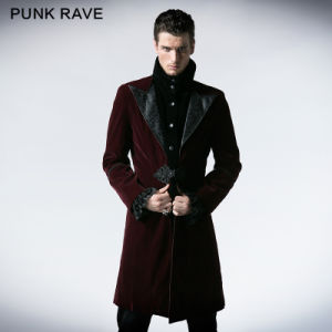 Gothic Men Duster Korea Fashion Long Coat Model (Y-377/RD)
