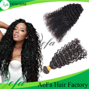 Aofa Hair Factory Wholesale Human Hair Extension Double Drawn pictures & photos