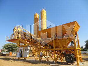 35m3/H Full Automatic Mobile Concrete Batching Plant (YHZS35) pictures & photos