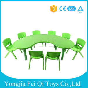 Indoor Kids Educational Equipment Plastic Chairs and Desks