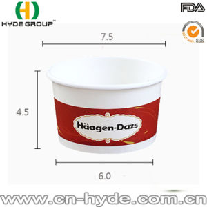 Haagen-Dazs Disposable Ice Cream Paper Bowl with Lid pictures & photos