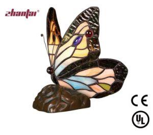China Handmade Tiffany Table Lamp Animal Indoor Lamp Butterfly Shape