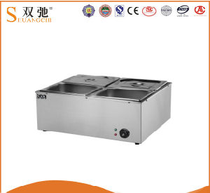 Commercial Stainless Steel 4 Pots Electric Bain Marie Machine pictures & photos