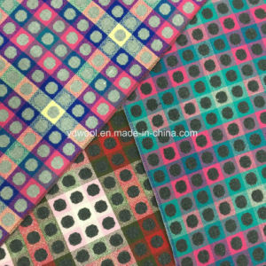 Colors of Jacquard Check and DOT Wool Fabric Ready