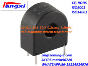 2000: 1 80A 50ohm 0.2class 7.5hole PCB Mounting Current Transformer (ZMCT118G) pictures & photos