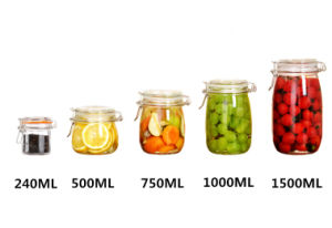 240ml Glass Bottle with Buckle Cover. Storage Tank