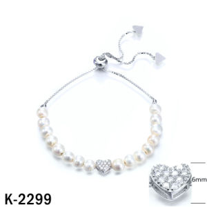 New Designs 925 Silver Pearl Bracelets with Extension Chain pictures & photos